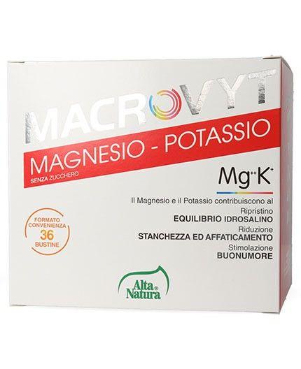Macrovit integratore Magnesio e potassio, vitamina c, acido folico 36 bustine