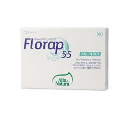 Florap 55 a base di prebiotici e probiotici, equilibrio della flora batterica