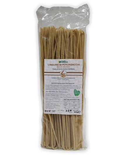 Linguine Pasta artigianale di perciasacchi grano antico (Kamut Siciliano)